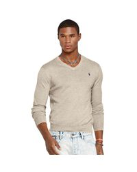Polo Ralph Lauren | Natural Slim-fit Pima Cotton Sweater for Men | Lyst