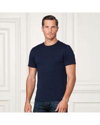 Ralph Lauren Purple Label   Blue Pima Cotton Lisle T-shirt for Men   Lyst