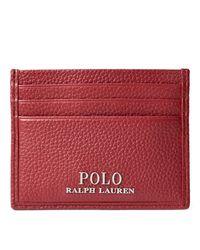 Porte-cartes en cuir chagrin Polo Ralph Lauren pour homme en coloris Red