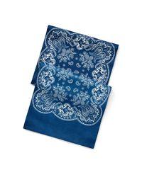 Foulard en satin à imprimé bandana RRL pour homme en coloris Blue
