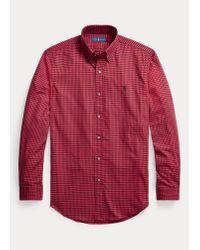 Camisa De Sarga Custom Fit A Cuadros Polo Ralph Lauren de hombre de color Red