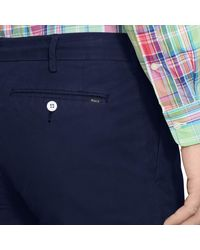 Polo Ralph Lauren - Blue Straight-fit Pima Chino Short for Men - Lyst