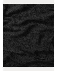 Écharpe en cachemire torsadé Ralph Lauren en coloris Black