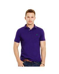 Polo Ralph Lauren | Purple Slim-fit Mesh Polo Shirt for Men | Lyst