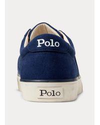 Polo Ralph Lauren Niedriger Segeltuchsneaker in Blue für Herren