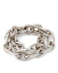 Ralph Lauren Metallic Silver-plated Link Bracelet