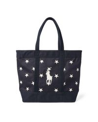 Lyst - Polo Ralph Lauren Star-spangled Pony Cotton Tote in Blue for Men 53c11ab7e1ec9