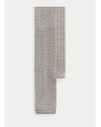 Cravate en maille de soie naturelle Ralph Lauren Purple Label pour homme en coloris Metallic