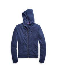 Ralph Lauren Purple Label Blue Double-knit Full-zip Hoodie for men