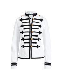 Ralph Lauren White Military Denim Jacket