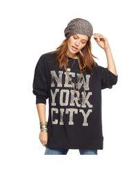 Denim & Supply Ralph Lauren | Black Drapey Graphic Sweatshirt | Lyst