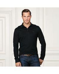 Ralph Lauren Purple Label | Black Custom-fit Polo Aus Baumwolle for Men | Lyst