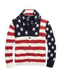 Polo Ralph Lauren Blue Flag Cotton-blend Cardigan for men