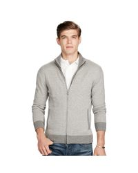 Polo Ralph Lauren | Gray Merino Wool Full-zip Sweater for Men | Lyst