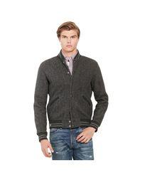 Polo Ralph Lauren | Brown Herringbone Fleece Jacket for Men | Lyst