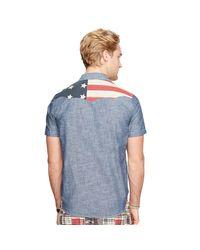 Denim & Supply Ralph Lauren Blue Americana Western Shirt for men