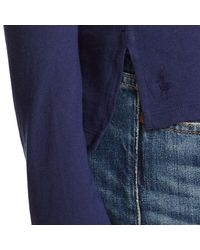 Polo Ralph Lauren - Blue Drapey Long-sleeved Tee - Lyst