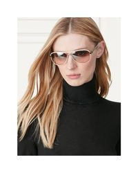 Ralph Lauren - Metallic Automotive Leather Sunglasses - Lyst