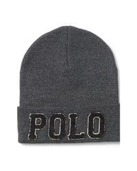 "Polo Ralph Lauren - Gray ""Polo"" Cotton Hat for Men - Lyst"