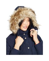 Denim & Supply Ralph Lauren - Blue Hooded Down Parka - Lyst