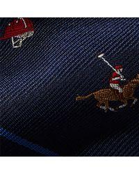 Polo Ralph Lauren - Blue Polo Striped Silk Repp Tie for Men - Lyst