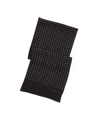 Polo Ralph Lauren - Black Dot-print Wool Challis Scarf for Men - Lyst