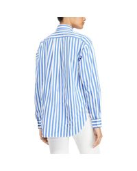 Polo Ralph Lauren Blue Bengal-stripe Cotton Shirt