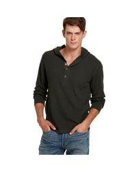 Denim & Supply Ralph Lauren | Gray Waffle-knit Hooded Henley for Men | Lyst