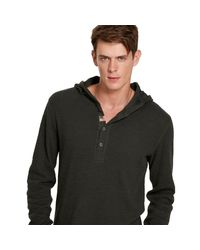 Denim & Supply Ralph Lauren   Gray Waffle-knit Hooded Henley for Men   Lyst