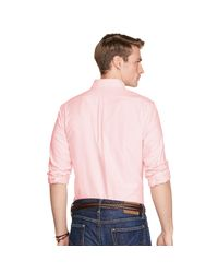 Polo Ralph Lauren | Pink Slim Fit Cotton Oxford Shirt for Men | Lyst