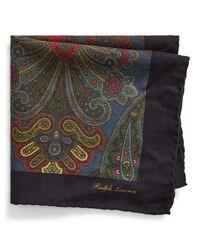 Pochette en laine à motif cachemire Ralph Lauren Purple Label pour homme en coloris Blue