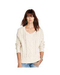 Denim & Supply Ralph Lauren | Multicolor Cable-knit Cotton Sweater | Lyst