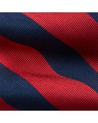 Cravate étroite reps de soie rayé Ralph Lauren pour homme en coloris Red