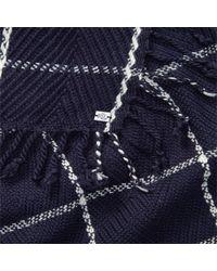 Lauren by Ralph Lauren - Blue Windowpane Scarf - Lyst
