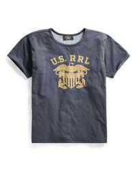 RRL Wendbares T-Shirt aus Baumwolle in Blue für Herren