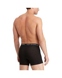 Lot de trois slips boxers en coton Polo Ralph Lauren pour homme en coloris Black