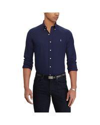 Polo Ralph Lauren Blue Classic Fit Poplin Shirt for men
