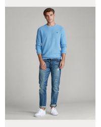 Ralph Lauren Rundhalspullover aus Baumwolle in Gray für Herren