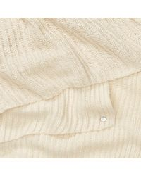 Ralph Lauren - Natural Metallic Linear Ribbed Scarf - Lyst