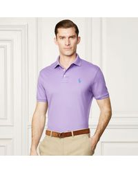 Ralph Lauren Purple Label Purple Custom-fit Piqué Polo Shirt for men