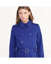 Ralph Lauren - Blue Double-breasted Trench Coat - Lyst