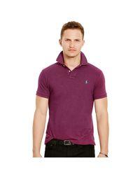 Polo Ralph Lauren | Purple Custom-fit Mesh Polo Shirt for Men | Lyst