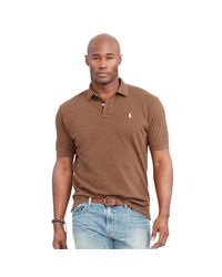 Pink Pony Brown Classic-fit Mesh Polo Shirt for men