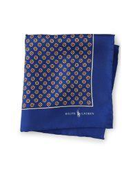 Polo Ralph Lauren | Blue Patterned Silk Pocket Square for Men | Lyst