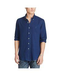 Polo Ralph Lauren Blue Indigo Cotton Oxford Shirt for men