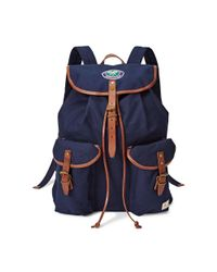 Polo Ralph Lauren - Blue Wimbledon Canvas Backpack for Men - Lyst