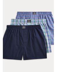 Polo Ralph Lauren 3er-Pack Boxershorts aus Baumwolle in Blue für Herren