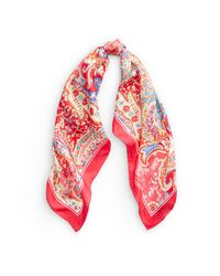 Écharpe Veronika en soie paisley Ralph Lauren en coloris Red