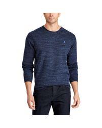 Pink Pony Blue Cotton Crewneck Sweater for men