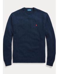 Polo Ralph Lauren Legendärer Rundhalspullover aus Baumwolle in Blue für Herren